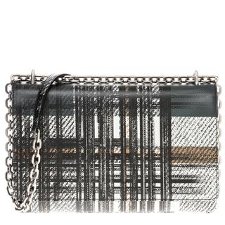 prada tartan print medium saffiano leather shoulder bag
