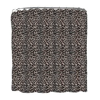 Printed Leopard Shower Curtain
