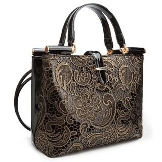 Ann Creek Women's 'Wolls' Metallic Embroidered Handbag
