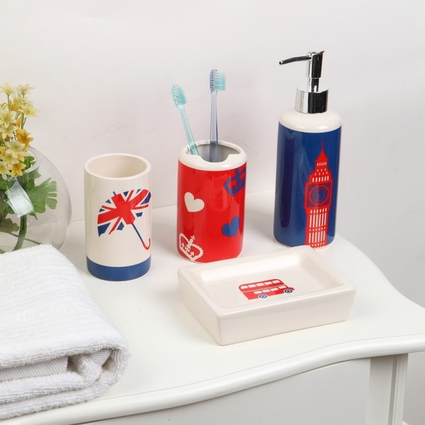 4-piece Ceramic London Bath Set