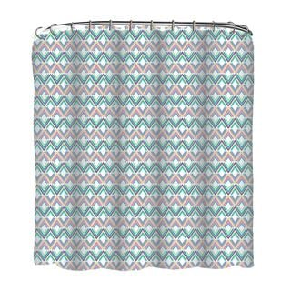 13-piece Diamonds Printed Peva Shower Curtain with Roller Hooks