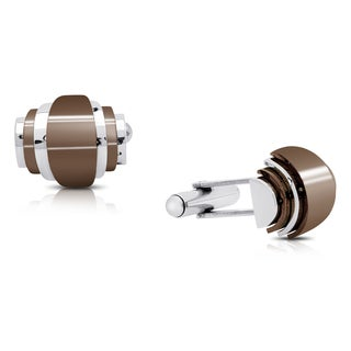Gravity Stainless Steel Brown Plated Cufflinks
