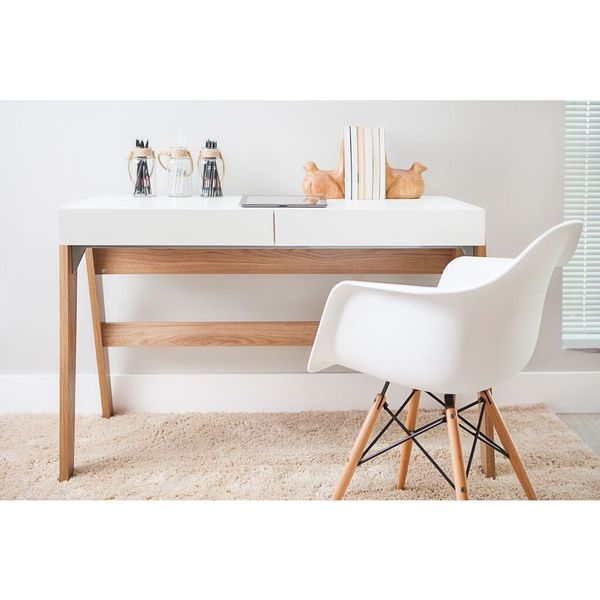 Trend Line Home Natural 2-drawer Office Desk