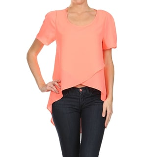 Moa Women's Wrapped Front Loose Fit Blouse