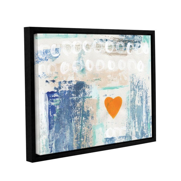 ArtWall Linda Woods's Heart In The Sand, Gallery Wrapped Floater-framed Canvas