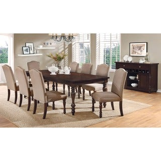 Furniture of America Ketz Transitional Ivory 9-piece Dining Set