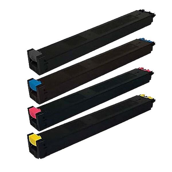 1Set Compatible MX-31NTBA MX-31NTCA MX-31NTMA MX-31NTYA Toner Cartridge For Sharp MX 2600N 3100N ( Pack of 4 )