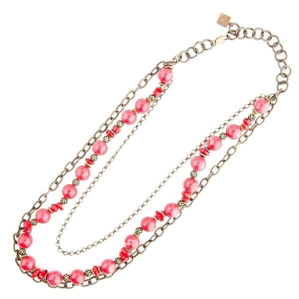 Lady in Red Chain Medley Necklace