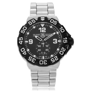Tag Heuer Men's Stainless Steel 'Formula 1' WAH1010.BA0854 Round Black Dial Link Watch