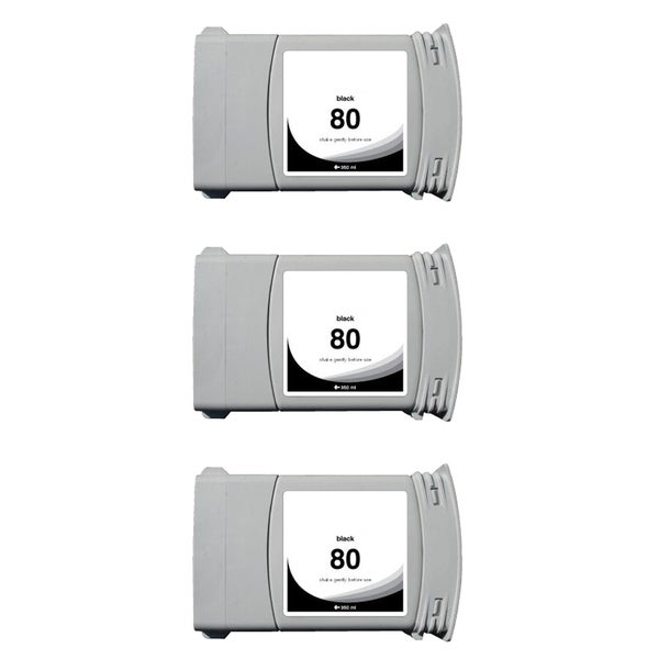 3PK C4871A #80 Compatible Ink Cartridge For HP DesignJet 1000 1050 1055 ( Pack of 3 )
