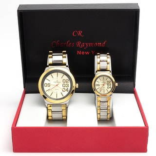 Charles Raymond His & Hers 2142 Two-tone Watch Set