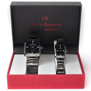 Charles Raymond His & Hers 1776 Gunmetal Tone Watch Set