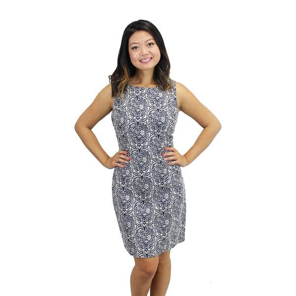 Women's Hammam Tiles Linen Dress