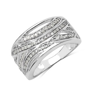 Olivia Leone Sterling Silver 3/8ct TDW White Diamond Right Hand Ring (I-J, I2-I3)