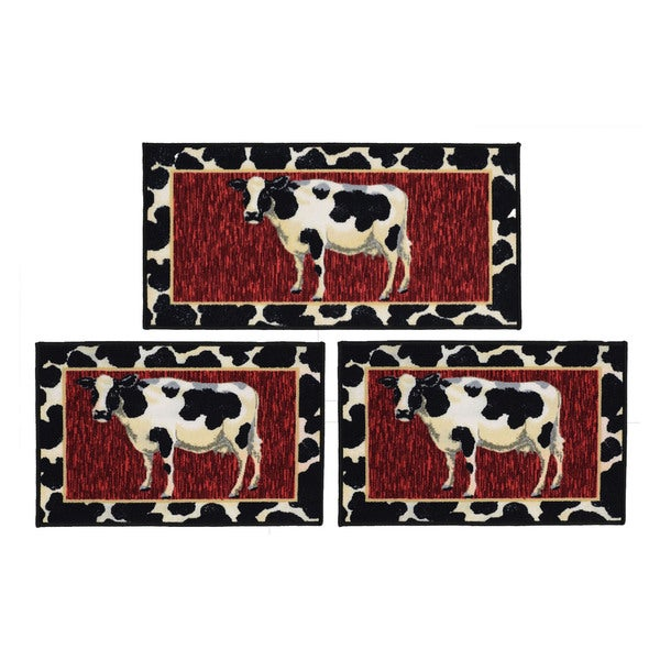 Cow 3-Piece Rug Set