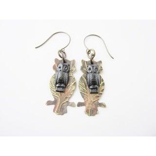 Midnight Owl Shadow Earrings