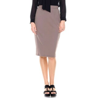 Stanzino Women's Solid Pencil Skirt