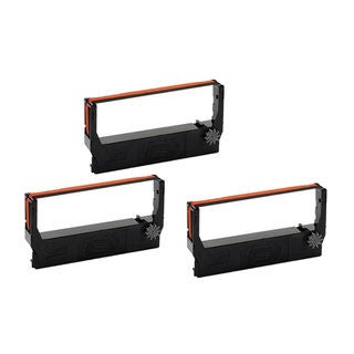 3PK Compatible ERC30 Black/Red Ribbons for Epson M119B M119D M133A M17JB ( Pack of 3 )