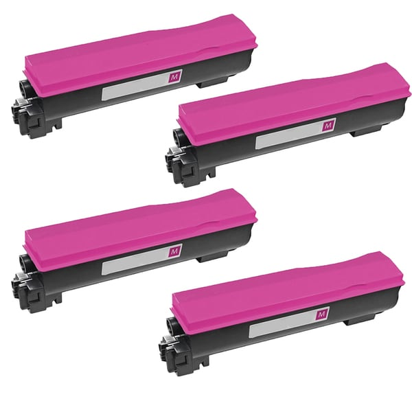 4PK Compatible TK542M Toner Cartridge for Kyocera FS C5100 C5100DN (Pack of 4)