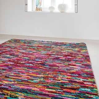 Papilio : Hand Knotted Rossiare Cotton Rug (8' x 10')