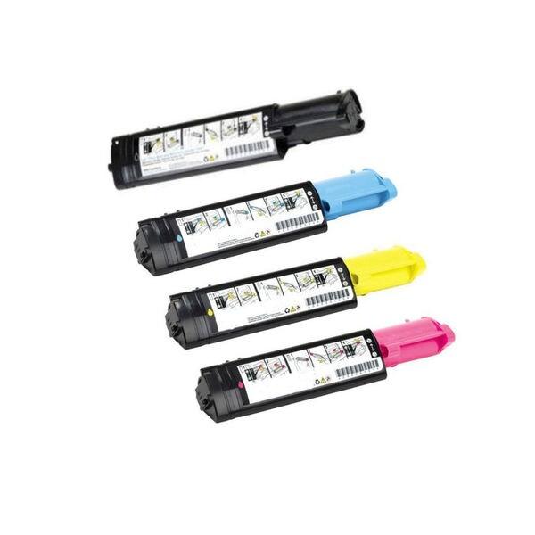 1 Set Compatible 341-3568 341-3569 341-3571 341-3570 Toner Cartridges For Dell 3010 3010CN ( Pack of 4 )