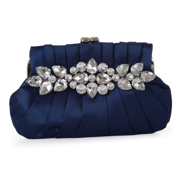 J. Furmani Floral Satin Clutch
