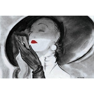 Marmont Hill - Handmade Hat Lady 1 Painting Print on Canvas