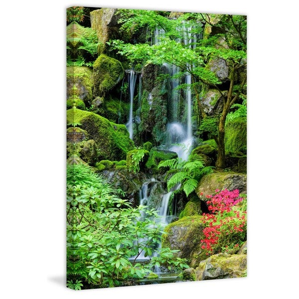 "Marmont Hill - ""Heavenly Falls"" Painting Print on Canvas"