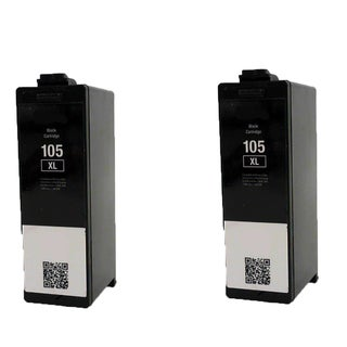 2 Pack Lexmark 14N0822 105XL Compatible Ink Cartridge for Lexmark Pro 805 Pro 901 Pro 905 (Pack of 2)