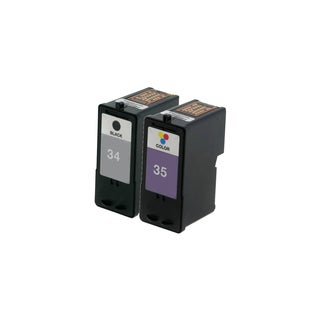2 Pack Lexmark 18C0034 #34 18C0035 #35 Compatible Ink Cartridge for Lexmark Z810 Z812 (Pack of 2)