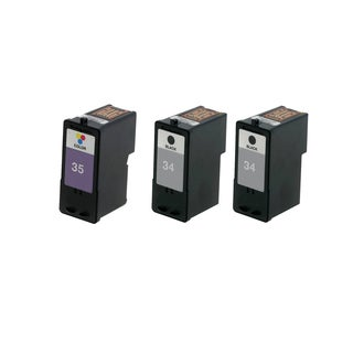 3 Pack Lexmark 18C0034 #34 18C0035 #35 Compatible Ink Cartridge for Lexmark Z810 Z812 (Pack of 3)