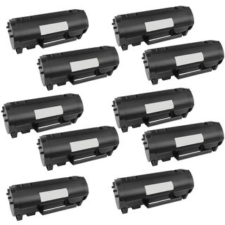 10PK Compatible 50F1H00 Toner Cartridge for Lexmark MS310D MS310DN MS410D MS410DN MS510DN (Pack of 10)