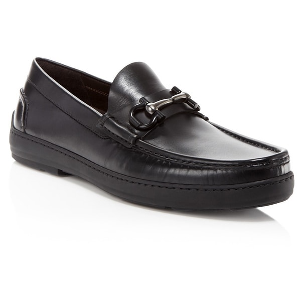 Salvatore Ferragamo Memphis Brown Leather Gancini Loafers