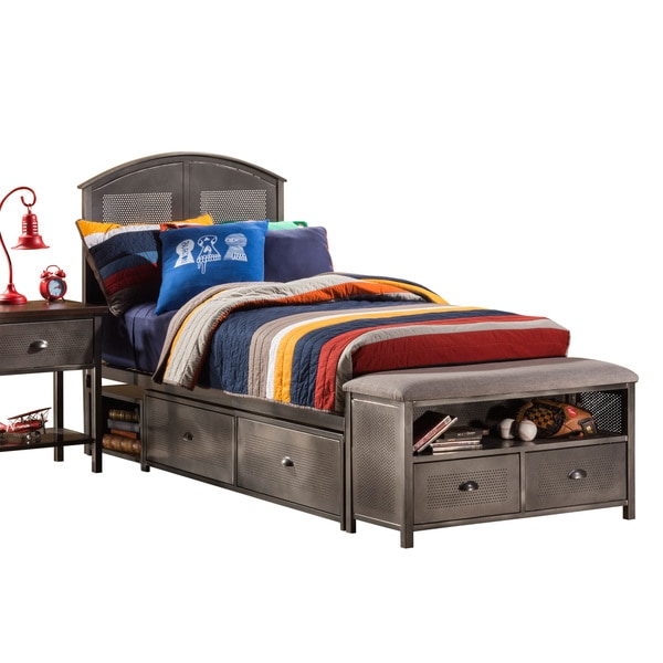 Hillsdale Furniture Urban Quarters Panel Storage Bed Set with Footboard Bench
