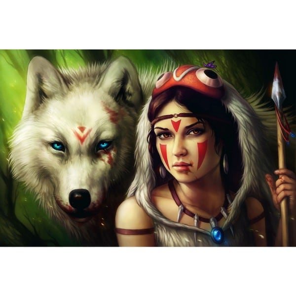 "Marmont Hill - ""Princess Mononoke"" Painting Print on Canvas"