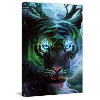 "Marmont Hill - ""Godly Tigers 2"" Painting Print on Canvas"