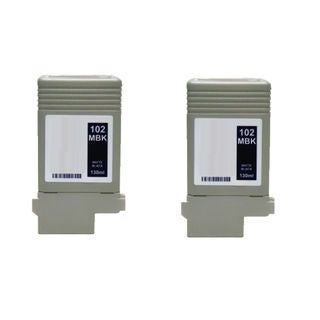 2PK PFI-102BK Compatible Ink Cartridge for Canon ImagePROGRAF iPF 500 510 600 610 710 720 (Pack of 2)