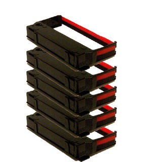 5PK Compatible ERC23 Black Red Ribbons for Epson ERC-23 ERC-30 IBM 4651 (Pack of 5)