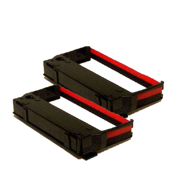 2PK Compatible ERC23 Black Red Ribbons for Epson ERC-23 ERC-30 IBM 4651 (Pack of 2)
