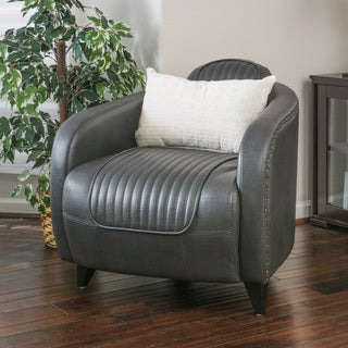 Christopher Knight Home Pamela Channeled Faux Leather Club Chair