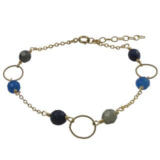 Gold Filled Blue Semi-precious Gemstone Children's Bracelet