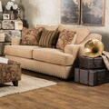 Furniture of America Shellie Transitional Tan Fabric Loveseat