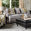 Furniture of America Audellie Contemporary Grey Fabric Loveseat