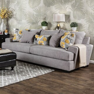 Furniture of America Audellie Contemporary Grey Fabric Sofa