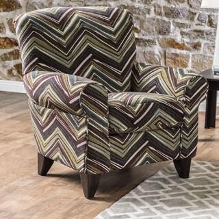 Furniture of America Avnet Contemporary Chevron Print Club Chair