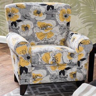 Furniture of America Audellie Contemporary Floral Club Chair
