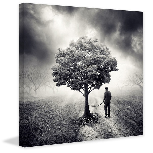"Marmont Hill - ""Walking a Tree"" Painting Print on Canvas"