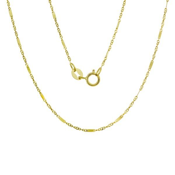 14K Gold Italian Bar Link Chain (16-20 inches )