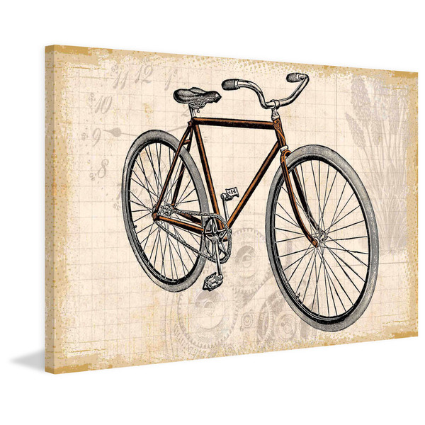"Marmont Hill - ""Red Bike"" Painting Print on Canvas"