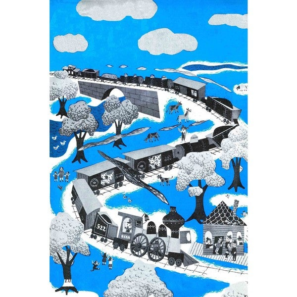 "Marmont Hill - ""The Longest Train"" Painting Print on Canvas"